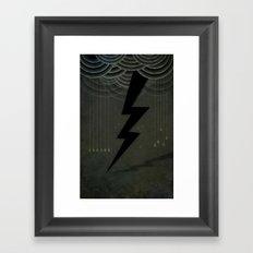 The Black Bolt Framed Art Print