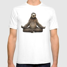 Sloth Yoga Art Print T-shirt
