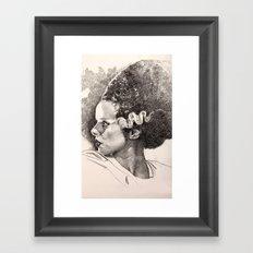 The bride of frankenstein elsa lancaster Framed Art Print