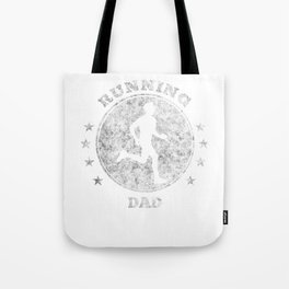Running Dad I Daddy Jogging for Men Marathon Gift Tote Bag