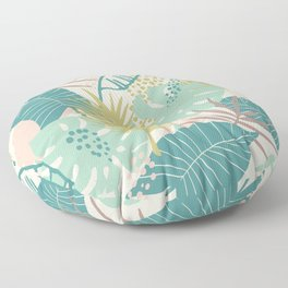 Beautiful Exotic Colorful Leaf Pattern Floor Pillow
