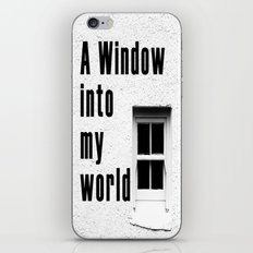 A window to my world iPhone & iPod Skin