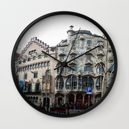 Batllo House, Barcelona, Catalunya, Spain, Antoni Gaudi Wall Clock