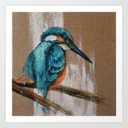 Little Blue One Art Print