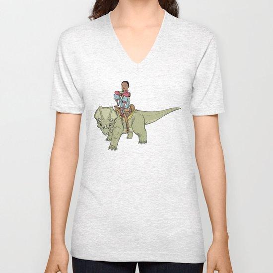 A Boy and his Dinosaur Unisex V-Neck