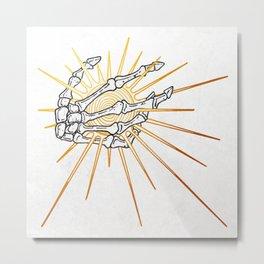 Skeleton Hand Inktober :: Dreadful Fairy Tales Metal Print