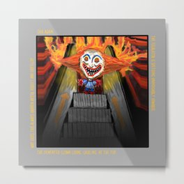 Sick Again - Scary Clown Metal Print