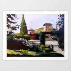Sunny in Granada Art Print