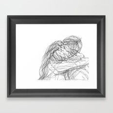 make-out? (B & W) Framed Art Print