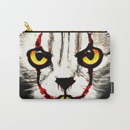 cat clown kittywise no text vector art Carry-All Pouch