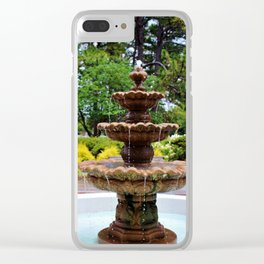 College Fountain Clear iPhone Case