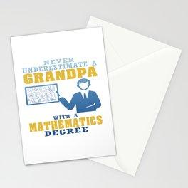 Mathematics Degree Grandpa Stationery Cards