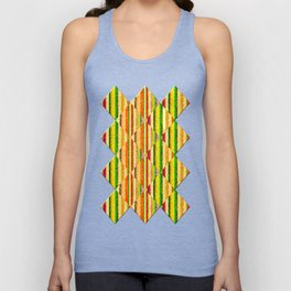 Colorful Stripes and Curls Unisex Tank Top