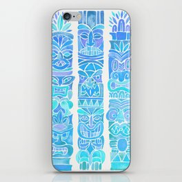 Tiki Totems – Turquoise Palette iPhone Skin