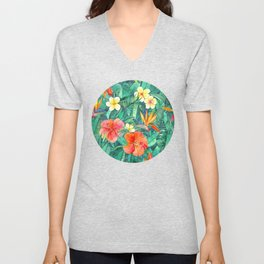 Classic Tropical Garden Unisex V-Neck
