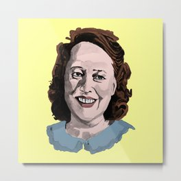 Happy Annie Wilkes - Misery  (Yellow) Metal Print
