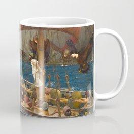 John William Waterhouse - Ulysses and the Sirens, 1891 Coffee Mug