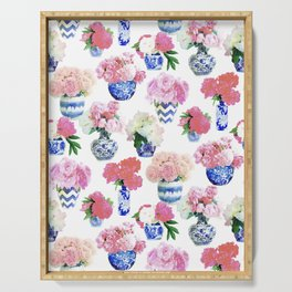 Ginger Jar Peonies Serving Tray