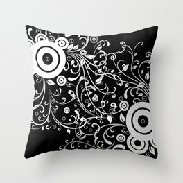 Abstract white and grey background Throw Pillow