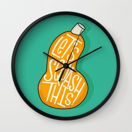 Squash This Wall Clock