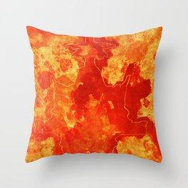 Warm blast Throw Pillow