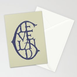 Vintage Cleveland Typography (Light) Stationery Cards
