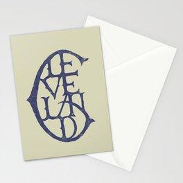 Vintage Cleveland Typography (Light) Stationery Cards