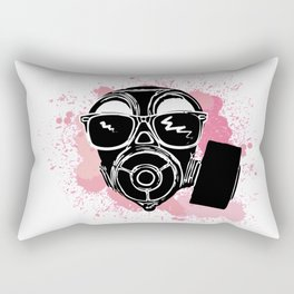 Cool gas mask with sunglases Rectangular Pillow