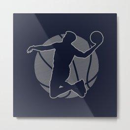 Basketball Player II (monochrome) Metal Print
