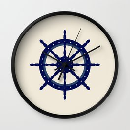 AFE Navy Helm Wheel, Nautica Art Wall Clock