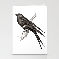 swallow Stationery Cards featuring Swallow by Artzology