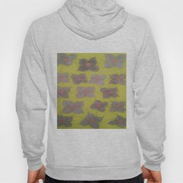 Grey and Yellow Floral Hoody