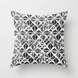 Hand stamped diamonds Throw Pillow