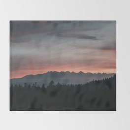 Mountainscape - Landscape and Nature Photography Throw Blanket