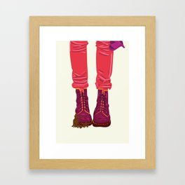 """From """"Tuesday 13"""" Bad Luck Series: Dirty boots Framed Art Print"""