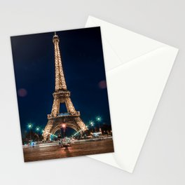 Eiffet Tower at Night Stationery Cards