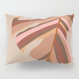 Monstera Leaf - Earthy,Terracotta & Pink Pillow Sham