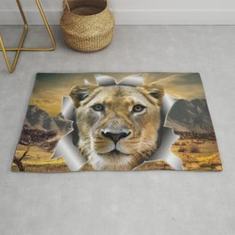Lioness from Africa Rug