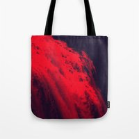 blood Tote Bags featuring BLOOD by RUEI