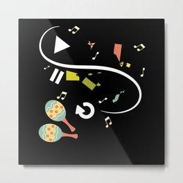 Salsa Dance Rhythm Gift Idea Design Motif Metal Print