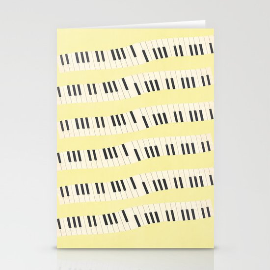 Piano wave Stationery Cards