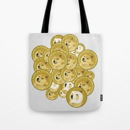 Such coins, so much dogecoins Tote Bag