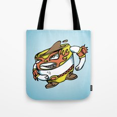 The flying luchador mug of coffee Tote Bag