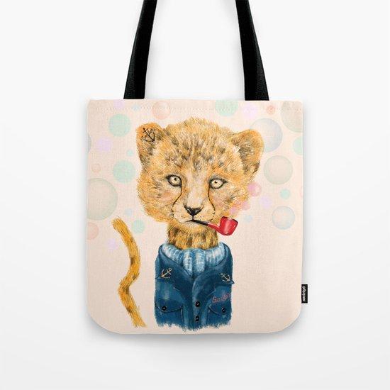 Cheetah Sailor Tote Bag