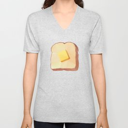 Toast with Butter polygon art Unisex V-Neck