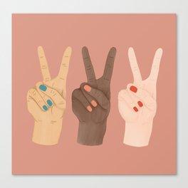 Peace Hands Canvas Print