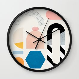 Abstraction_Shapes Wall Clock