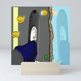 Thee skateboard pic by Mgyver Mini Art Print