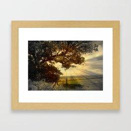 Across Blagdon Fields. Framed Art Print