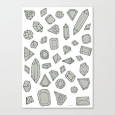 doodle crystals on white Canvas Print